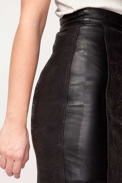 Regan leather skirt
