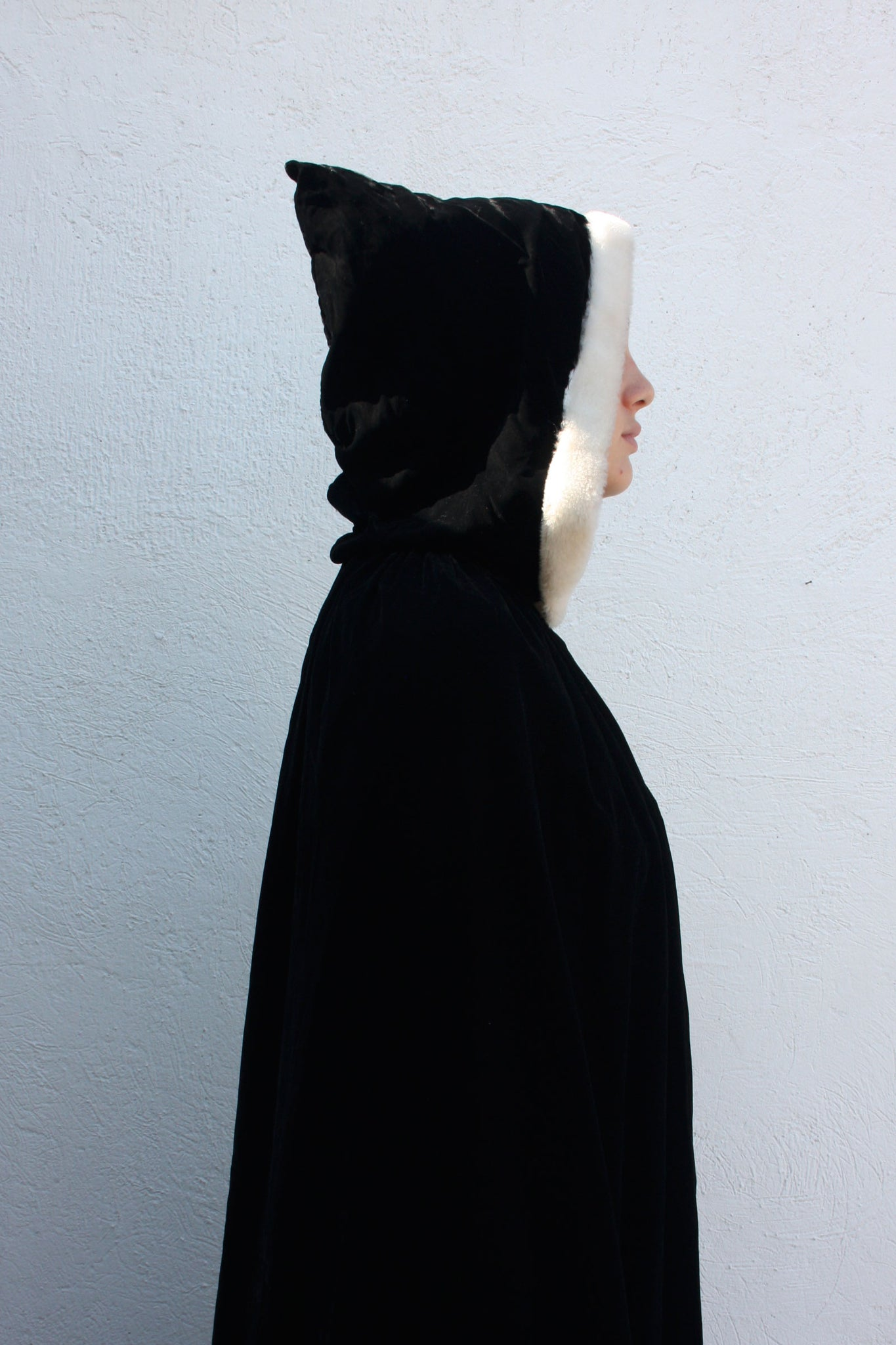 Velvet black vintage cape - Shop SoLovesVintage