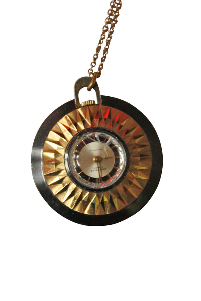 Vintage Bea clock necklace