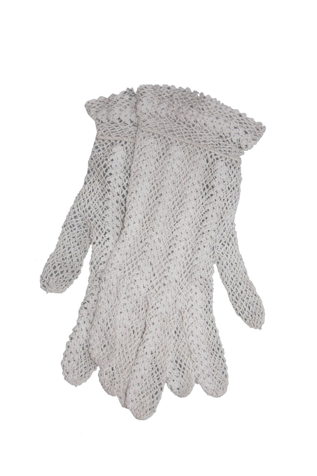 vintage crochet white gloves - SoLovesVintage