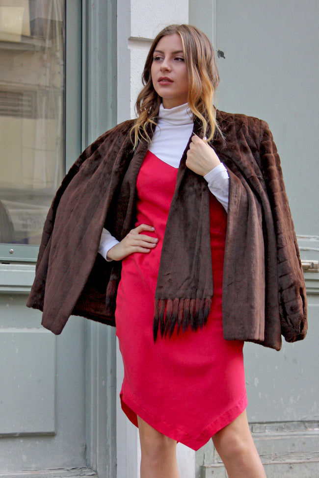 Vintage Poppy fur jacket