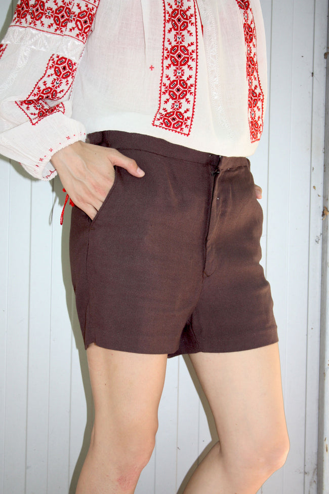 Retro 80's linen shorts - Shop SoLovesVintage
