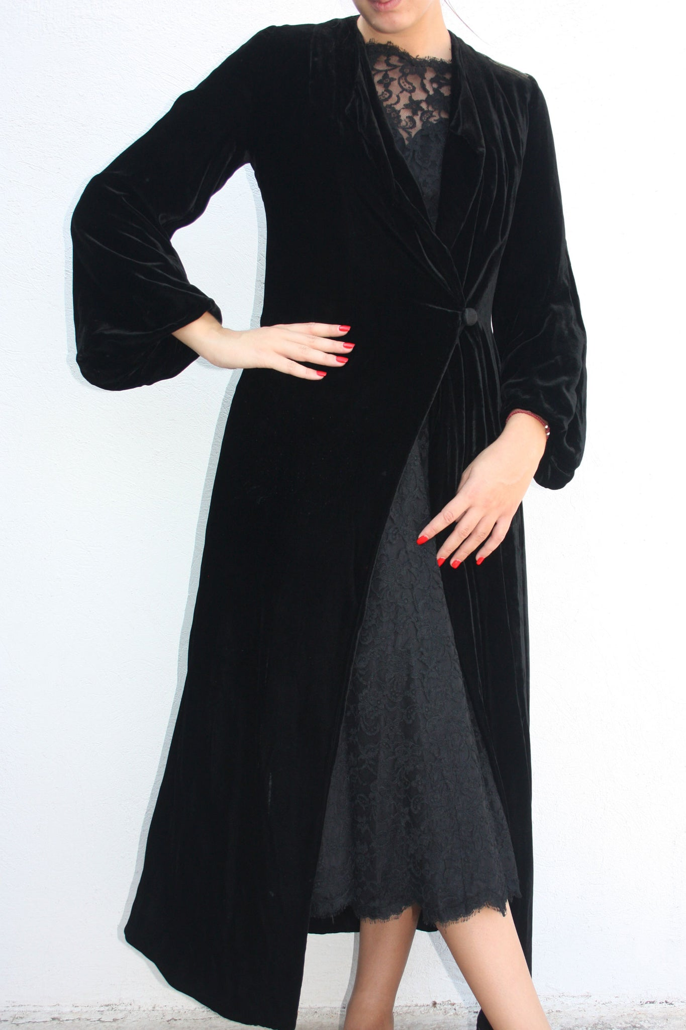 black velvet opera 20s coat - Shop SoLovesVintage