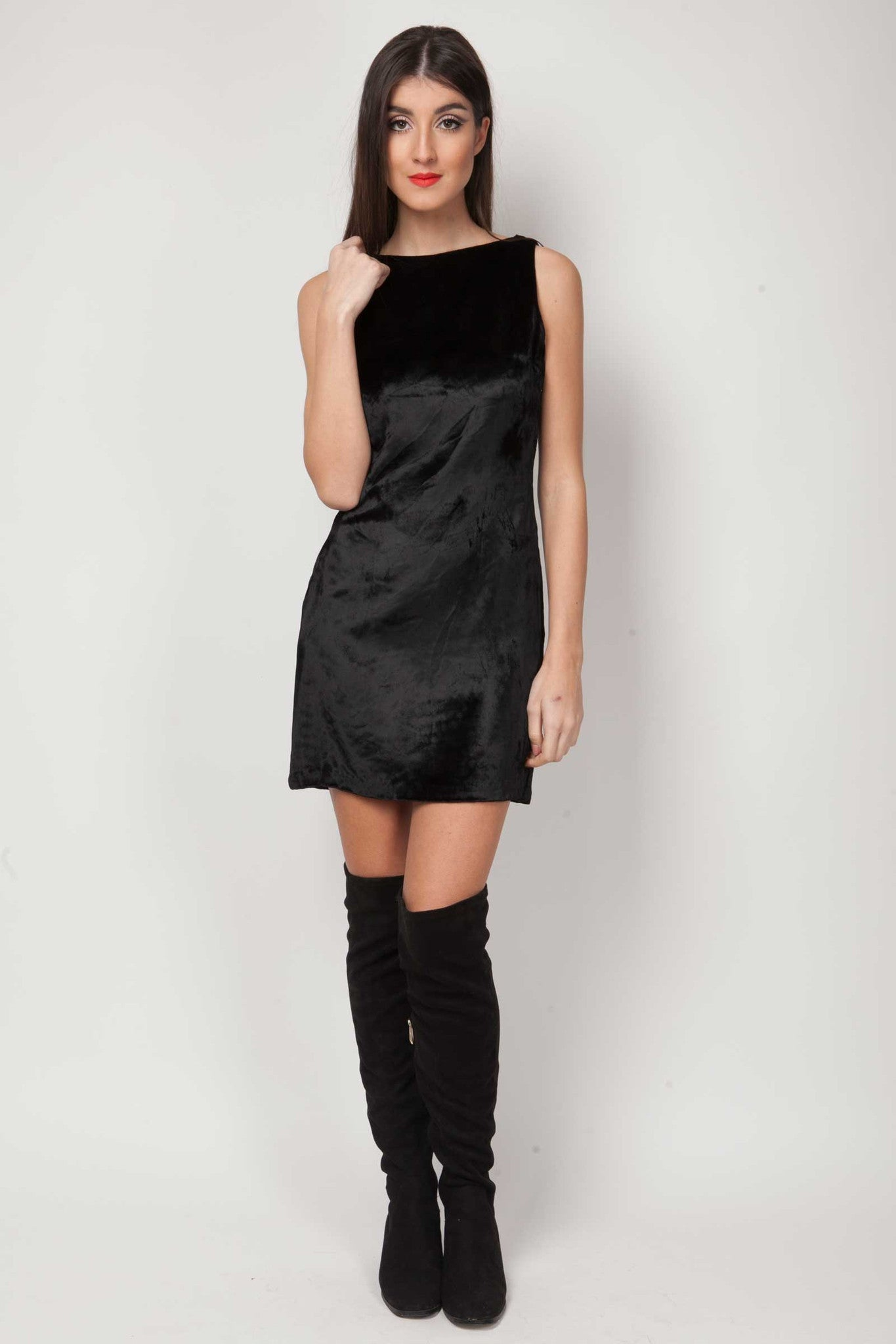 Rimona velvet dress