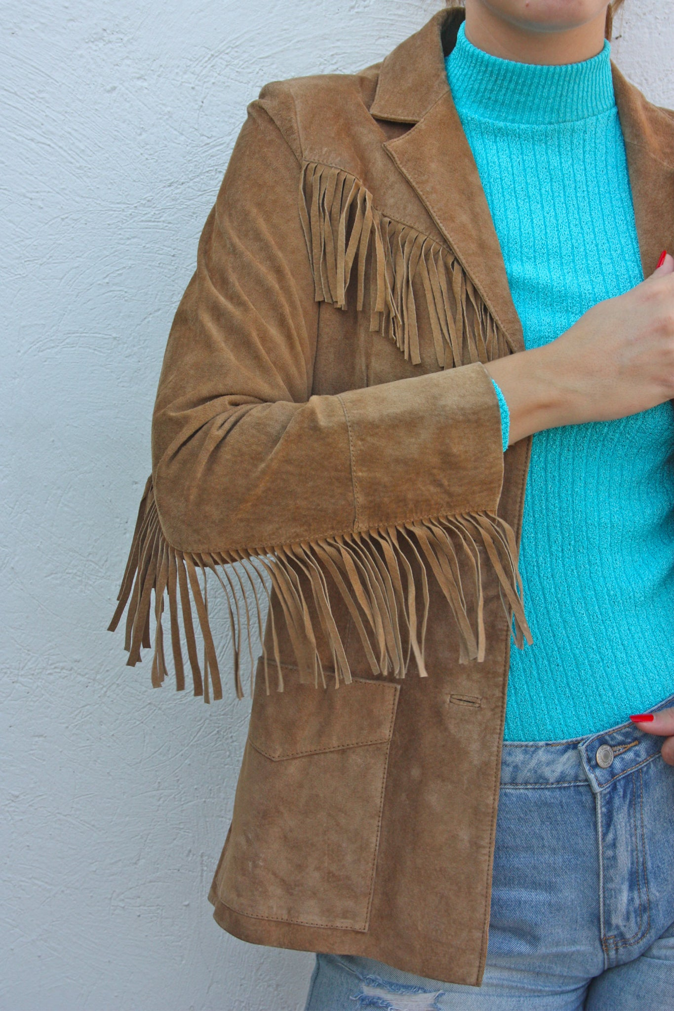 70's suede fringe tan jacket - Shop SoLovesVintage