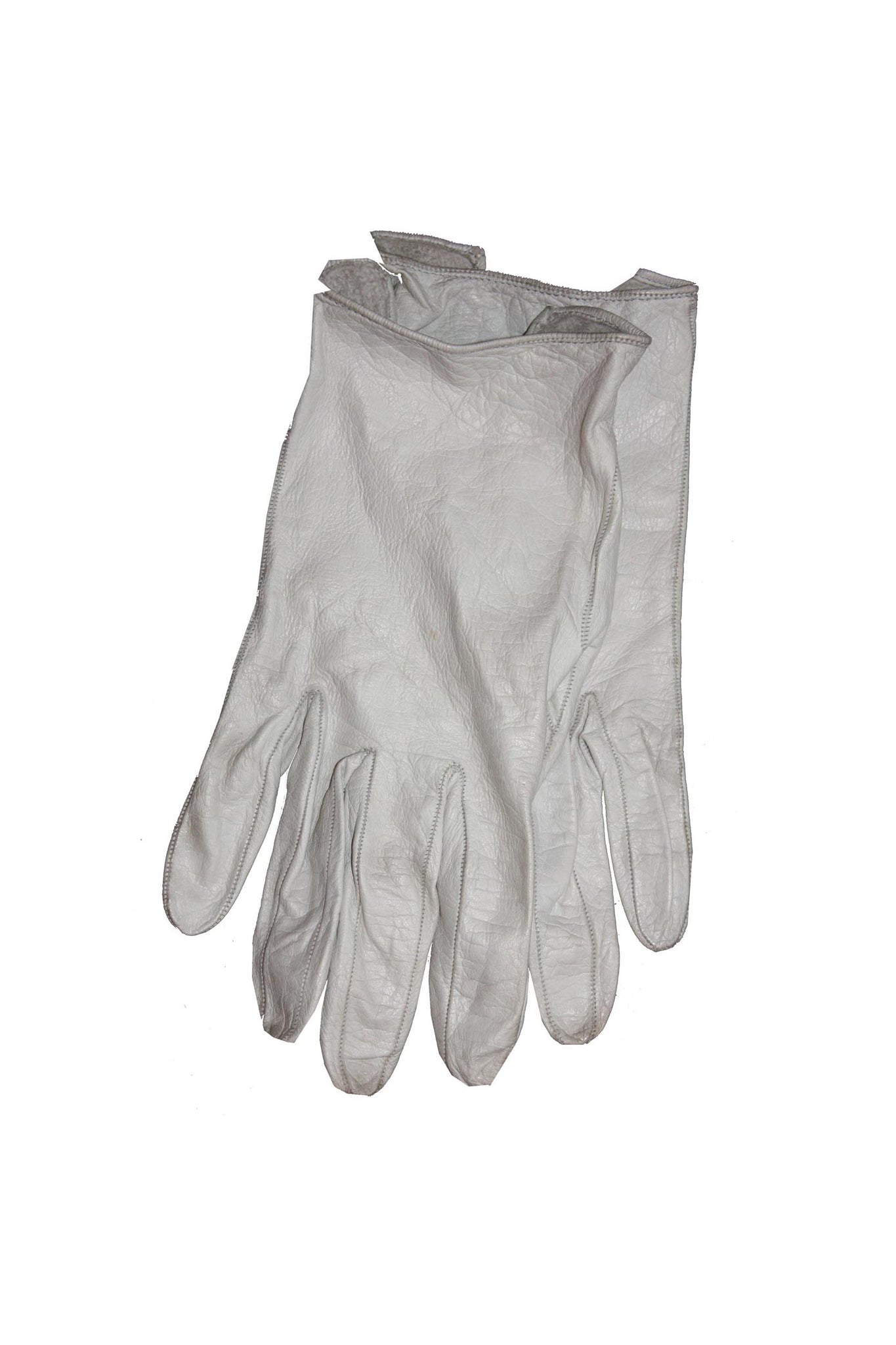 1950's white leather gloves - SoLovesVintage