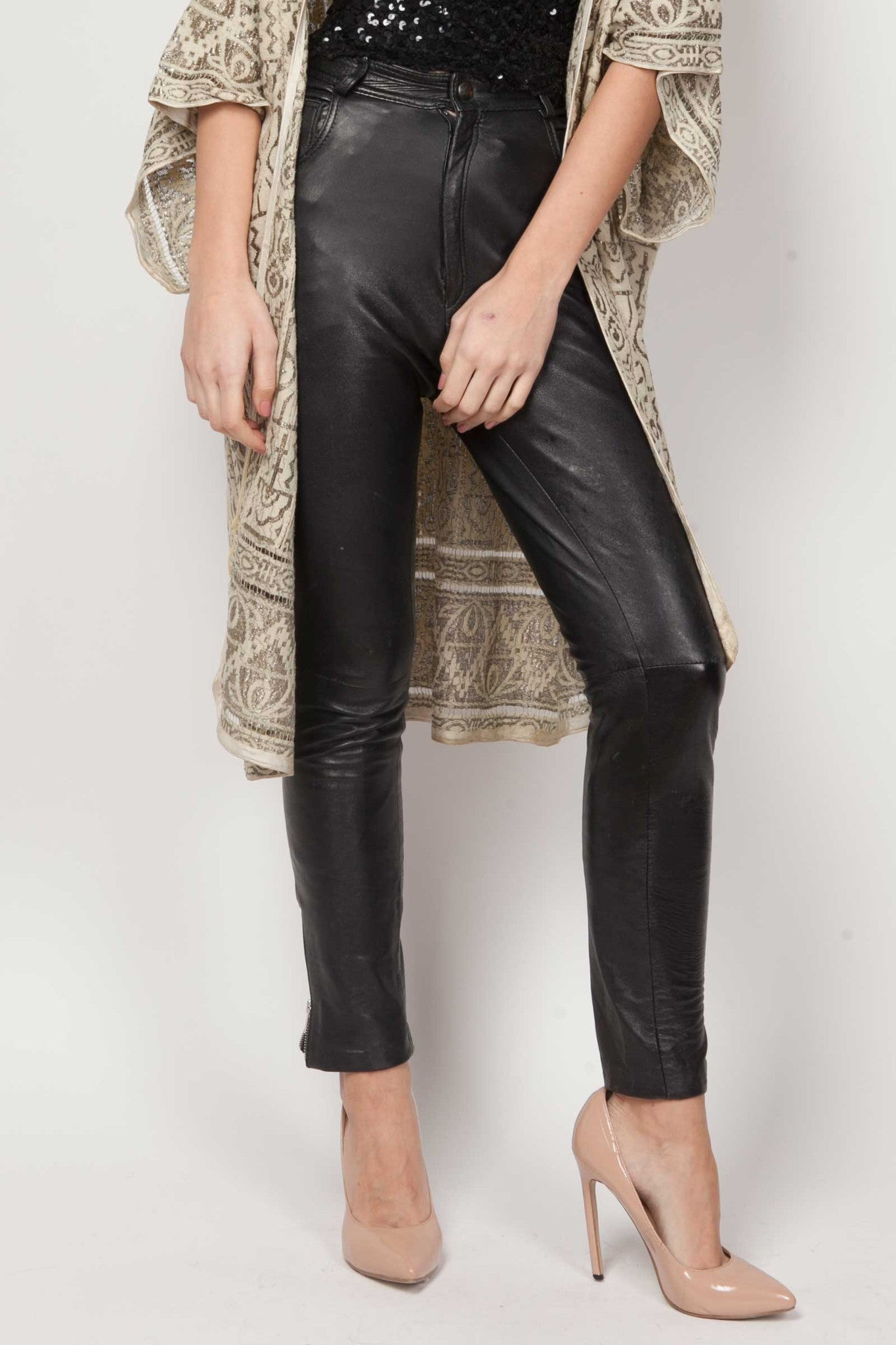 Ria leather trousers