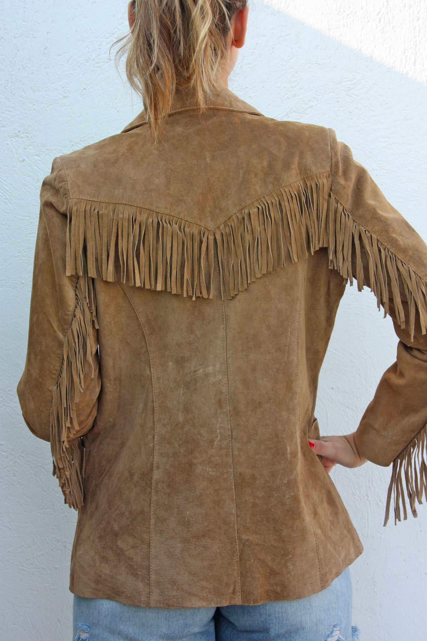 Tan suede vintage jacket - Shop SoLovesVintage