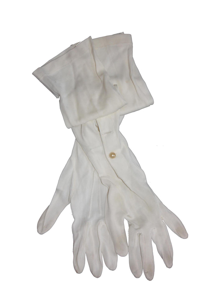 White vintage long gloves - SoLovesVintage
