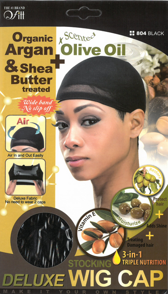 M&M HEADGEAR INC-DELUXE WIG CAP SHEA BUTTER & OLIVE OIL