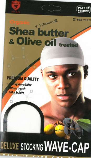 M&M HEADGEAR INC-DELUXE WAVE CAP SHEA BUTTER & OLIVE OIL