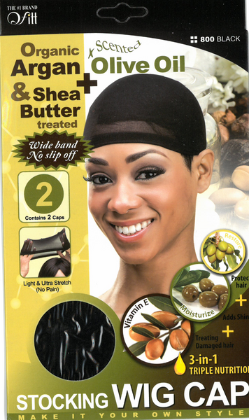 M&M HEADGEAR INC-WIG CAP SHEA BUTTER & OLIVE OIL-2 PACK