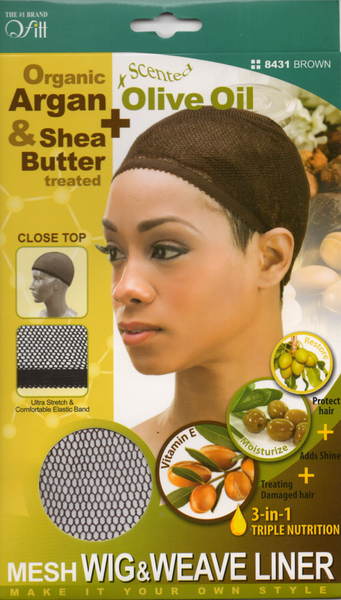M&M HEADGEAR INC-WIG & WEAVE CAP SHEA BUTTER & OLIVE OIL-CLOSE TOP