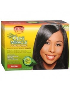 African Pride Olive Miracle Relaxer Kit Super