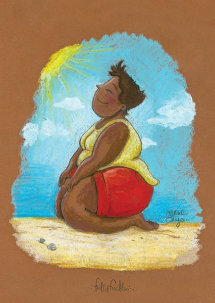 Beach Girl Illustration
