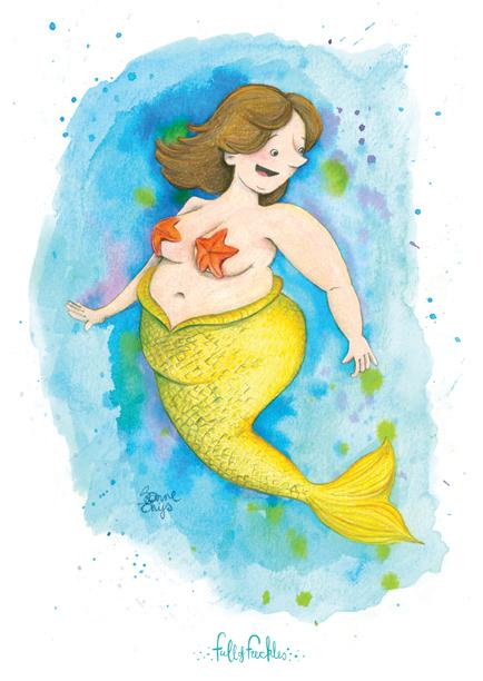 Fat Mermaid Illustration