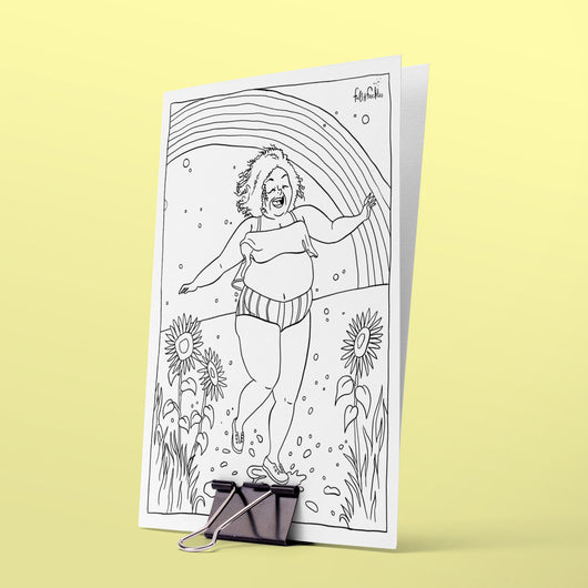 Colouring page - Splashing happines