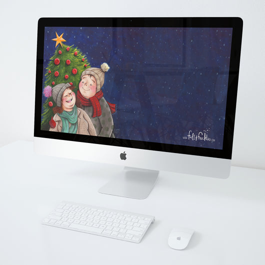 Wallpaper - Christmas couple