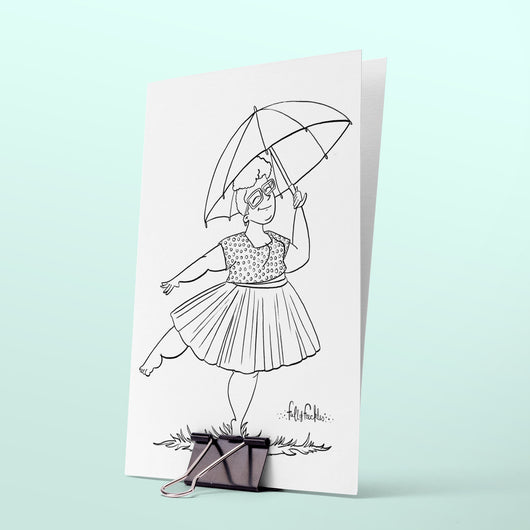 Colouring page - Spring rain