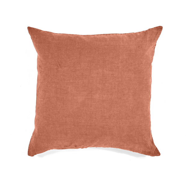 Pillow Case · Pure Washed Linen · Dark Orange
