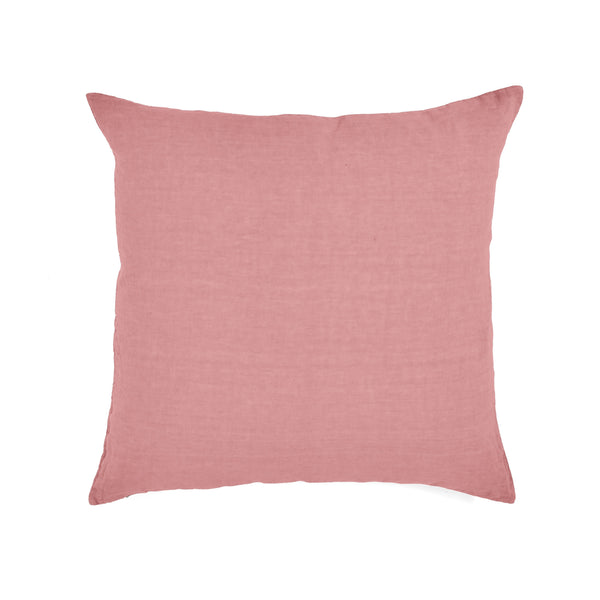Pillow Case · Pure Washed Linen · Intense Pink