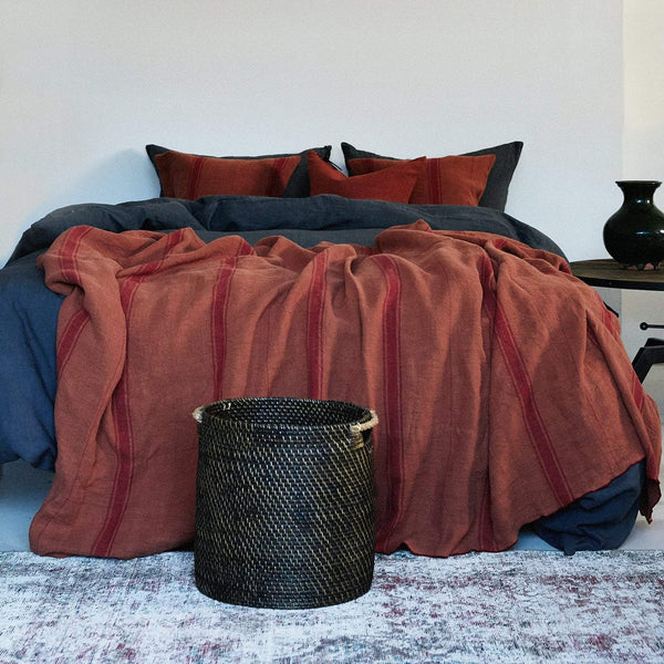 Duvet Cover · Pure Washed Linen · Lead Grey