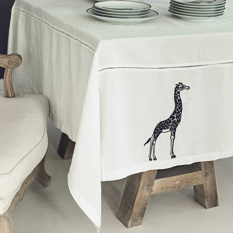 Embroided Tablecloth · Pure Washed Linen