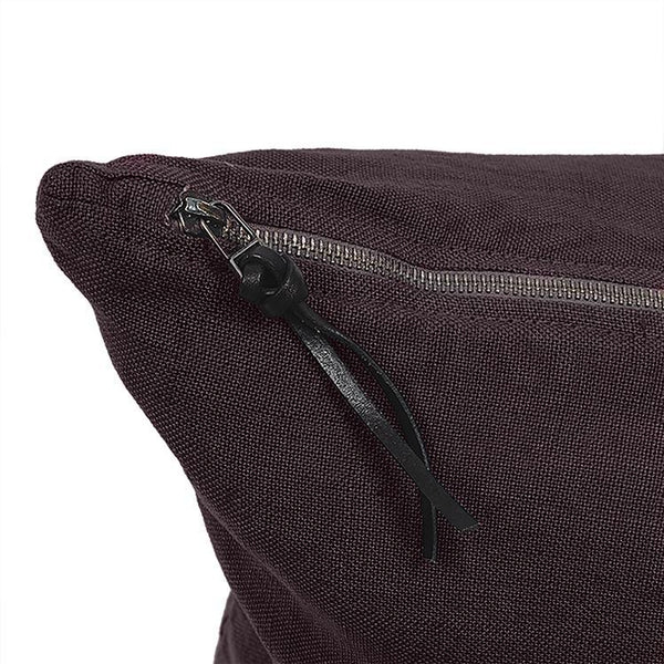 Cushion Cover · Pure Washed Linen · Dark Brown