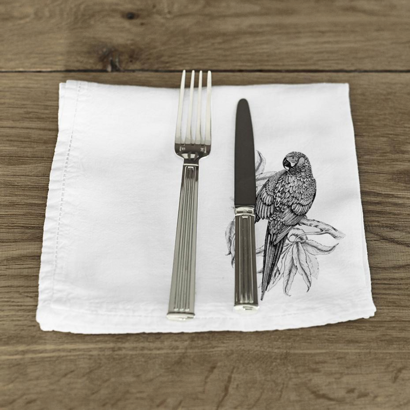 Napkin · Pure Washed Linen · Parrots