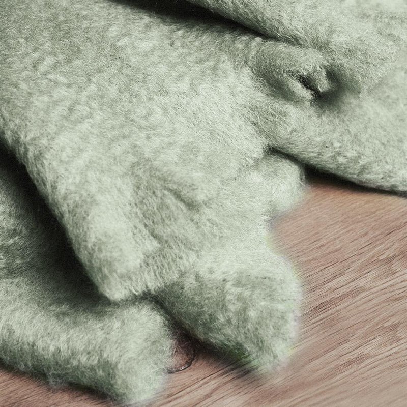 Mohair Blanket · Light Green