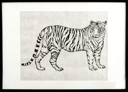 Serigraph Printing in Linen · Tiger
