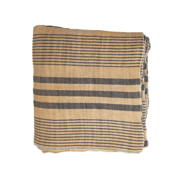 Throw · Pure Washed Linen · Stripes
