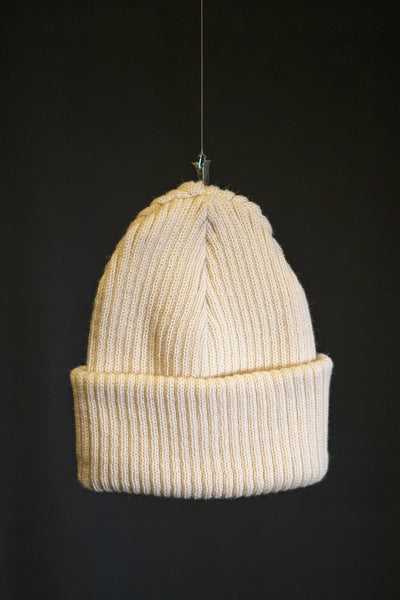 Cousteau beanie natural white