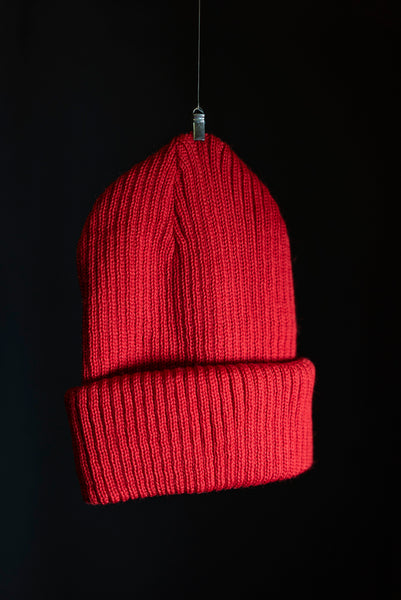 Cousteau beanie red