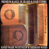 Neem Wood Beard & Hair Comb - daarimooch