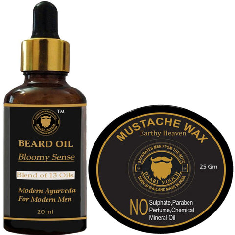 Beard Oil & Mustache Wax Trial Pack