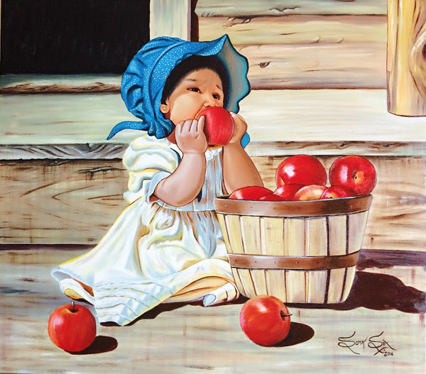 Curiosty Of Child |31 X 35 Inches