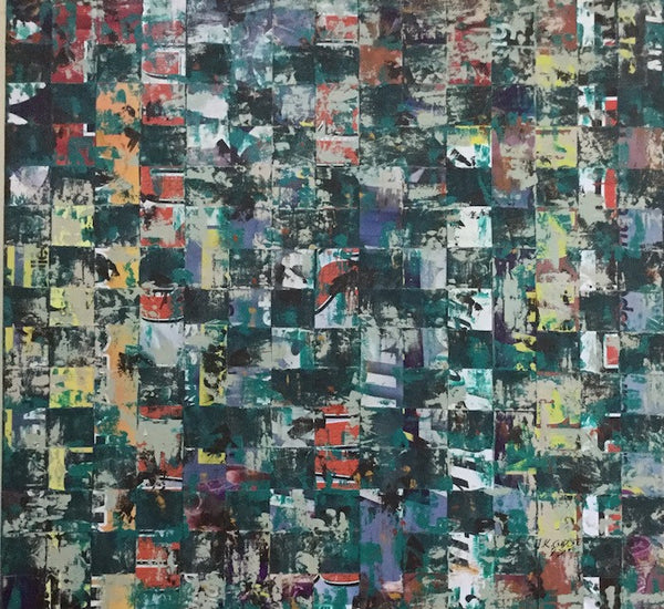 Green on the street | 64X60 Inches