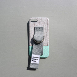 SECOND UNIQUE NAME,SUN CASE SWEATER GREY MINT | CHANCEMAKER STUDIO.