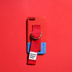 SECOND UNIQUE NAME,SUN CASE SWEATER RED BLUE | CHANCEMAKER STUDIO.