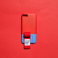 SECOND UNIQUE NAME,SUN CASE FINGER SWEATER RED BLUE | CHANCEMAKER STUDIO.