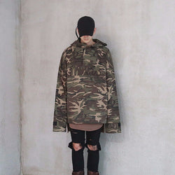 KLOTH,KLOTH OVERSIZED CAMO ANORAK HOODED JACKET | CHANCEMAKER STUDIO.