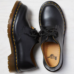 DR.MARTENS,1461 3-EYE FLAT BLACK SMOOTH | CHANCEMAKER STUDIO.