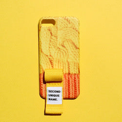 SECOND UNIQUE NAME,SUN CASE FINGER SWEATER YELLOW ORANGE | CHANCEMAKER STUDIO.