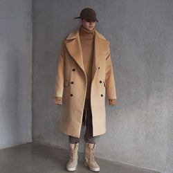 KLOTH,KLOTH BOXYFIT DOUBLE BREASTED OVERCOAT / 3color | CHANCEMAKER STUDIO.
