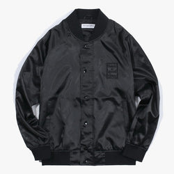 have a good time,SATIN RAGLAN JACKET (BLACK) | CHANCEMAKER STUDIO.