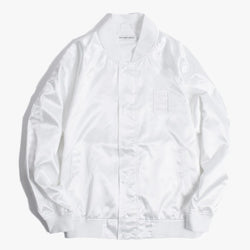 have a good time,SATIN RAGLAN JACKET (WHITE) | CHANCEMAKER STUDIO.