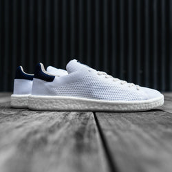 adidas originals,STAN SMITH BOOST PRIMEKNIT (RUNNING WHITE / COLLEGIATE NAVY) | CHANCEMAKER STUDIO.