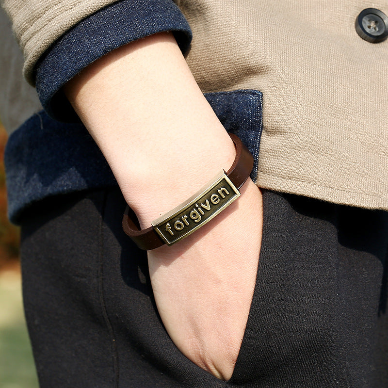 Forgiven Vintage Style Bracelet - Men/Women Jewelry - Jesus Revolution Co.