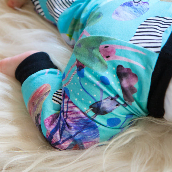 Baby Leggings (Turquoise Bunnies)